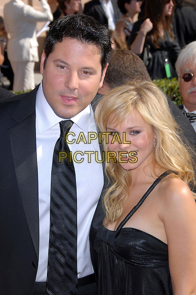 GREG GRUNBERG & KRISTEN BELL.59th Annual Primetime Creative Arts Emmys at the Shrine Auditorium, Los Angeles, California, USA, .8 September 2007..half length.CAP/ADM/BP.©Byron Purvis/AdMedia/Capital Pictures.