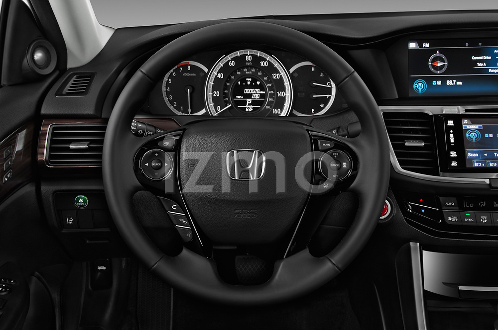 Car pictures of steering wheel view of a 2017 Honda Accord EX-L 4 Door Sedan Steering Wheel