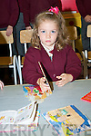 Alannah O'Leary enjoying her first day at Knockaderrry NS, Farranfore..   Copyright Kerry's Eye 2008