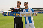 CD Leganes news players Juan Soriano (l) and Alex Martin during their official presentation. July 12, 2019. (ALTERPHOTOS/Francis Gonzalez)