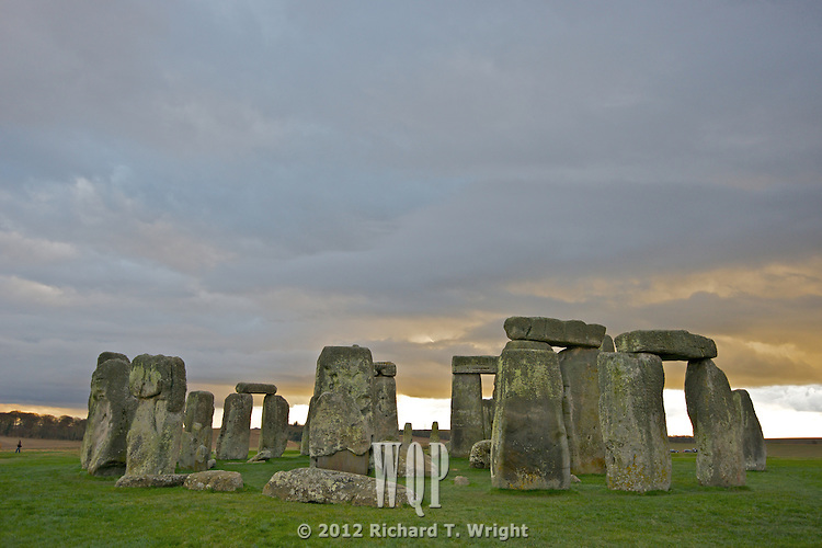 Stonehenge, Salisbury, England on a December evening.