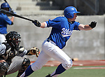 Western Nevada College's Alex Schmidt gets a hit against Colorado Northwestern during a college baseball game on Friday, April 6, 2012, in Carson City, Nev. The Wildcats won 1-0 and 5-1. The teams will play a doubleheader on Saturday starting at noon..Photo by Cathleen Allison