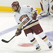 Benn Ferriero  The Boston College Eagles defeated the Providence College Friars 3-2 in regulation on October 29, 2005 at Kelley Rink in Conte Forum in Chestnut Hill, MA.  It was BC's first Hockey East win of the season and Providence's first HE loss.