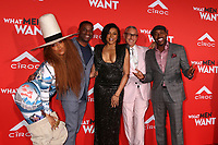 "LOS ANGELES - JAN 28:  Erykah Badu, James Lopez, Taraji P. Henson, Adam Shankman, Will Packer at the ""What Men Want"" Premiere at the Village Theater on January 28, 2019 in Westwood, CA"