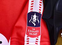 A Lincoln City shirt with the FA Cup sleeve badge<br /> <br /> Photographer Andrew Vaughan/CameraSport<br /> <br /> The Emirates FA Cup Second Round - Lincoln City v Carlisle United - Saturday 1st December 2018 - Sincil Bank - Lincoln<br />  <br /> World Copyright © 2018 CameraSport. All rights reserved. 43 Linden Ave. Countesthorpe. Leicester. England. LE8 5PG - Tel: +44 (0) 116 277 4147 - admin@camerasport.com - www.camerasport.com