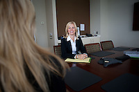 4/26/11 9:46:52 AM -- Warrington, Pa. -- Fox Rothschild Attorney Susan Smith at work in her Warrington, Pa. office April 26, 2011. -- Photo by William Thomas Cain/Cain Images for Fox Rothschild.