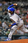 13 September 2008: Kansas City Royals' pitcher Devon Lowery on the mound against the Cleveland Indians at Progressive Field in Cleveland, Ohio. The Royals defeated the Indians 8-4 in the second game, sweeping their double-header...Mandatory Photo Credit: Ed Wolfstein Photo