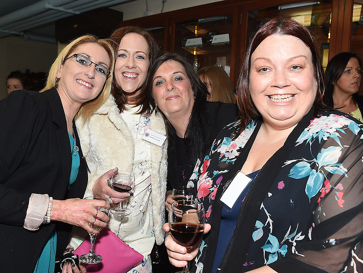 Sandra Garry, Mairead Nash, Ciara Crosby and Karen Kavanagh pictured at the Class of 1994 reunion at Our Lady's College Greenhills. Photo:Colin Bell/pressphotos.ie