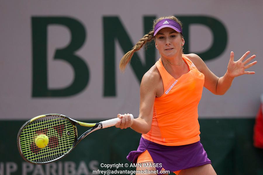 BELINDA BENCIC (SUI)<br /> <br /> Tennis - French Open 2014 -  Toland Garros - Paris -  ATP-WTA - ITF - 2014  - France -  25 May 2014. <br /> <br /> &copy; AMN IMAGES