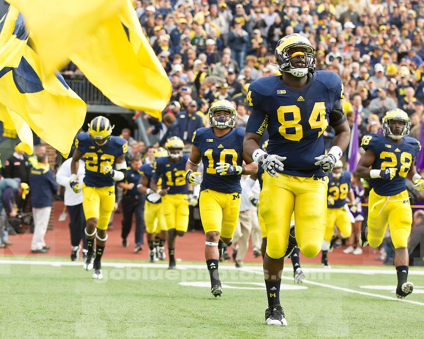 The University of Michigan football team beat Northwestern, 38-31 in overtime, at Michigan Stadium in Ann Arbor, Mich., on November 10, 2012.