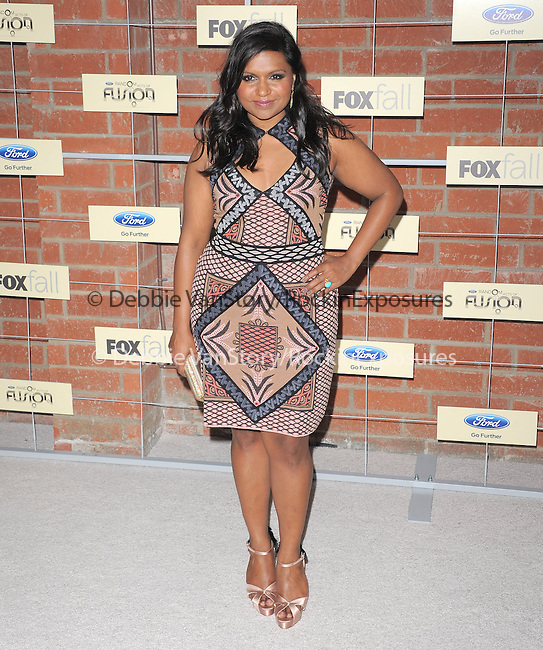 Mindy Kaling attends The FOX ECO-CASINO PARTY held at The Bookbindery in Culver City, California on September 10,2012                                                                               © 2012 DVS / Hollywood Press Agency