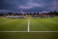 Boyds, MD - Saturday September 30, 2017: Washington Spirit and Seattle Reign during a regular season National Women's Soccer League (NWSL) match between the Washington Spirit and the Seattle Reign FC at Maureen Hendricks Field, Maryland SoccerPlex.
