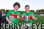 Beale's Neilus Mulvihill   man of the match and captain James McMahon at the Bernard O'Callaghan Memorial Senior Football Championship final last Saturday Beale V Listowel Emmets