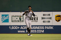 AZL White Sox right fielder Luis Mieses (22) settles under a fly ball during an Arizona League game against the AZL Indians 1 at Goodyear Ballpark on June 20, 2018 in Goodyear, Arizona. AZL Indians 1 defeated AZL White Sox 8-7. (Zachary Lucy/Four Seam Images)
