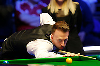 1st March 2020; Waterfront, Southport, Merseyside, England; World Snooker Championship, Coral Players Championship; Judd Trump (ENG) at the table during his final against Yan Bingtao (CHN)