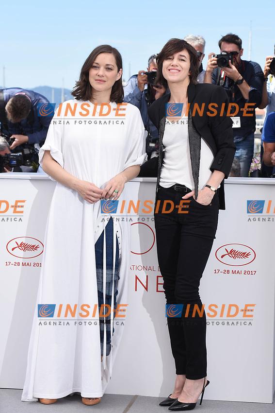 Marion Cotillard, Charlotte Gainsbourg<br /> Cannes 17-05-2017 70&deg;Edizione Festival del Cinema di Cannes.<br /> Foto Panoramic / Insidefoto