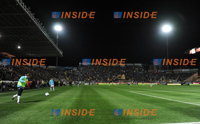 "allo stadio salta la luce per qualche minuto (Parma).Parma 31/03/2012 Stadio ""Ennio Tardini"".Serie A 2011/2012.Football Calcio Parma Vs Lazio.Foto Insidefoto Alessandro Sabattini."