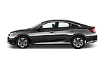 Car Driver side profile view of a 2016 Honda Civic LX 4 Door Sedan Side View