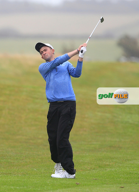 Michael Joseph Kennelly (Galway Bay) on the 17th fairway during the Connacht Semi-Final of the AIG Barton Shield at Galway Bay Golf Club, Galway, Co Galway. 11/08/2017<br /> Picture: Golffile | Thos Caffrey<br /> <br /> <br /> All photo usage must carry mandatory copyright credit     (&copy; Golffile | Thos Caffrey)