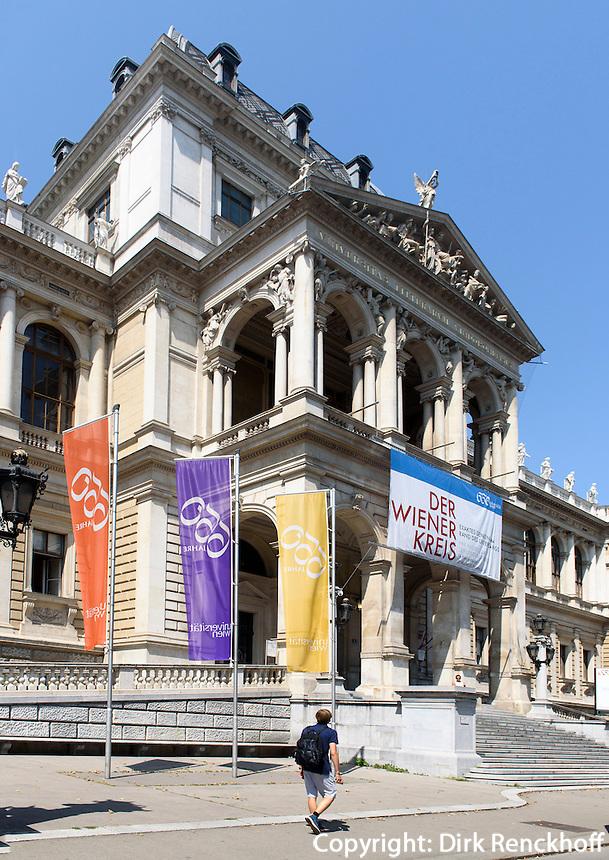 Universit&auml;t auf dem Universit&auml;tsring, Wien, &Ouml;sterreich, UNESCO-Weltkulturerbe<br /> University at Universit&auml;tsring, Vienna, Austria, world heritage