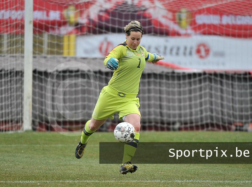Belgium U19 - Switzerland U19 : Nadine Böni (GK) (C).foto DAVID CATRY / Nikonpro.be