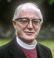 Most Rev Henry R McAdoo, Church of Ireland, Archbishop of Dublin, July, 1978, 197807000184a<br />