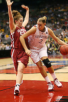 SAN ANTONIO, TX - APRIL 4: Jayne Appel during Stanford's 73-66 win over Oklahoma in the Final Four semi-finals at the Alamo Dome on April 4, 2010 in San Antonio, Texas.