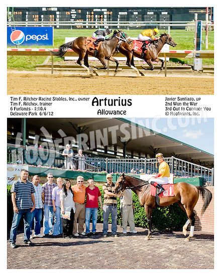 Arturius winning at Delaware Park on 6/6/12