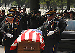 FARMINGDALE, NY-MONDAY, JUNE 30, 2008: Coffin being carried to a ceremonial pavillion at Long Island National Cemetery (cq) in Farmingdale on Monday June 30, 2008 for Military Service for SPC Anthony Mangano of Greenlawn who died while serviing with the National Guard in Afghanistan. Newsday/Jim Peppler.