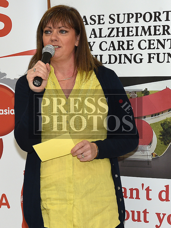 Siobhan Shortt Coca Cola speaking at the launch of the 2016 Boyne 10K in the laurence Town Centre. Photo:Colin Bell/pressphotos.ie