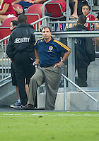26 June 2010: Los Angeles Galaxy head coach Bruce Arena watches the play during a game between the Los Angeles Galaxy and the Toronto FC at BMO Field in Toronto..Final score was 0-0...