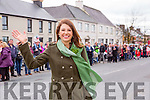 Grand Marshall Mary Hickey waves at the crowd at the Rathmore St Patricks parade on Sunday