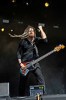 DERBYSHIRE, ENGLAND - AUGUST 12:  Len Sonnier of 'Stuck Mojo' performing at Bloodstock Open Air Festival, Catton Park on August 12, 2016 in Derbyshire, England.<br /> CAP/MAR<br /> &copy;MAR/Capital Pictures /MediaPunch ***NORTH AND SOUTH AMERICAS ONLY***