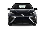Car photography straight front view of a 2017 Toyota Mirai Mirai 4 Door Sedan Front View