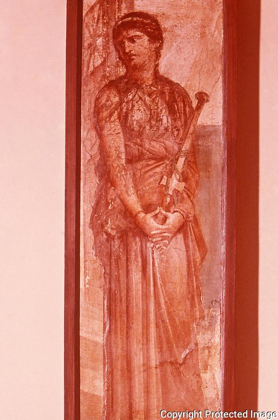 Roman Art:  Fresco--Medea Meditating.  National Museum, Naples.