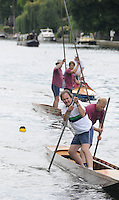 Maidenhead. Great Britain. Amateur Punting Championship, Men's Double,  Thames Punting Club Regatta. River Thames, Bray Reach. Sunday  14/08/2011   [Mandatory credit: Peter Spurrier Intersport Images]