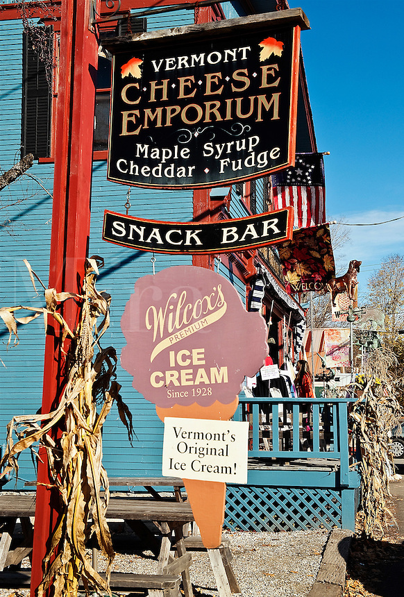 Ice Cream store, Weston, Vermont, VT, USA