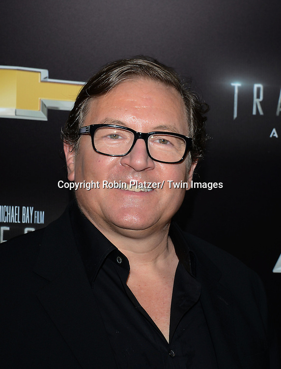 "Lorenzo di Bonaventura attends the US Premiere of ""Transformers: Age of Extinction"" on June 25, 2014 at The Ziegfeld Theatre in New York City, New York, USA."