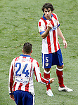 Atletico de Madrid's Jose Maria Gimenez (l) and Tiago Mendes during La Liga match.March 21,2015. (ALTERPHOTOS/Acero)