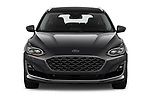 Car photography straight front view of a 2019 Ford Focus-Clipper Vignale 5 Door Wagon Front View