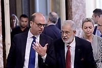 Roma, 26 Luglio 2017<br /> Il ministro degli esteri Angelino Alfano con il ministro degli affari esteri libico Mohamed Taha Siala a Palazzo Chigi