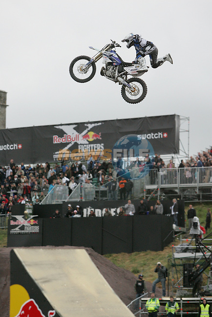 The red bull X-Fighters taking part at Slane Castle in Co Meath..Photo: Newsfile/Fran Caffrey..
