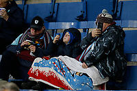 30th November 2019; Turf Moor, Burnley, Lanchashire, England; English Premier League Football, Burnley versus Crystal Palace; A family of Burnley fans await the kick off - Strictly Editorial Use Only. No use with unauthorized audio, video, data, fixture lists, club/league logos or 'live' services. Online in-match use limited to 120 images, no video emulation. No use in betting, games or single club/league/player publications