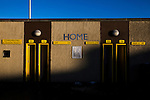 Alloa Athletic 0 Peterhead 1,14/01/2017. Recreation Park, Scottish League One. The home turnstiles outside Recreation Park before Alloa Athletic played Peterhead in a Scottish League One fixture. The club was formed in 1878 as Clackmannan County, changing the name to Alloa Athletic in 1883. The visitors won the match by one goal to nil, watched by a crowd of 504. Photo by Colin McPherson.