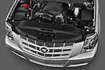 High angle engine detail of a 2007 - 2014 Cadillac Escalade ESV Premium SUV
