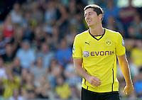 FUSSBALL       DFB POKAL 1. RUNDE        SAISON 2013/2014 SV Wilhelmshaven - Borussia Dortmund    03.08.2013 Robert Lewandowski (Borussia Dortmund)