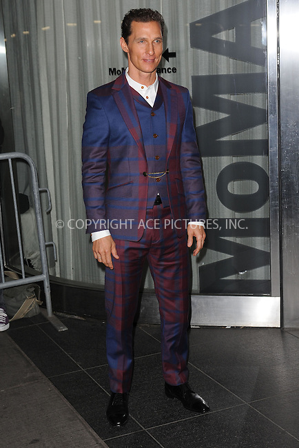 WWW.ACEPIXS.COM . . . . . .April 21, 2013...New York City.... Matthew McConaughey attends the Cinema Society screening of 'Mud' at The Museum of Modern Art on April 21, 2013 in New York City ....Please byline: KRISTIN CALLAHAN - ACEPIXS.COM.. . . . . . ..Ace Pictures, Inc: ..tel: (212) 243 8787 or (646) 769 0430..e-mail: info@acepixs.com..web: http://www.acepixs.com .