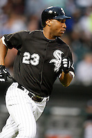 August 7, 2009:  Right Fielder Jermaine Dye (23) of the Chicago White Sox runs to first during a game vs. the Cleveland Indians at U.S. Cellular Field in Chicago, IL.  The Indians defeated the White Sox 6-2.  Photo By Mike Janes/Four Seam Images