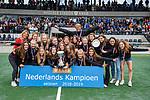 AMSTELVEEN -    finale Kampong MB1-Amsterdam MB1. AMSTERDAM MB1 wint de titel Meisjes B. finales A en B jeugd  Nederlands Kampioenschap.   COPYRIGHT KOEN SUYK