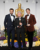 Malcolm Clarke and Nicholas Reed pose with their Oscar and Jason Sudeikis<br /> 86TH OSCARS<br /> The Annual Academy Awards at the Dolby Theatre, Hollywood, Los Angeles<br /> Mandatory Photo Credit: &copy;Dias/Newspix International<br /> <br /> **ALL FEES PAYABLE TO: &quot;NEWSPIX INTERNATIONAL&quot;**<br /> <br /> PHOTO CREDIT MANDATORY!!: NEWSPIX INTERNATIONAL(Failure to credit will incur a surcharge of 100% of reproduction fees)<br /> <br /> IMMEDIATE CONFIRMATION OF USAGE REQUIRED:<br /> Newspix International, 31 Chinnery Hill, Bishop's Stortford, ENGLAND CM23 3PS<br /> Tel:+441279 324672  ; Fax: +441279656877<br /> Mobile:  0777568 1153<br /> e-mail: info@newspixinternational.co.uk